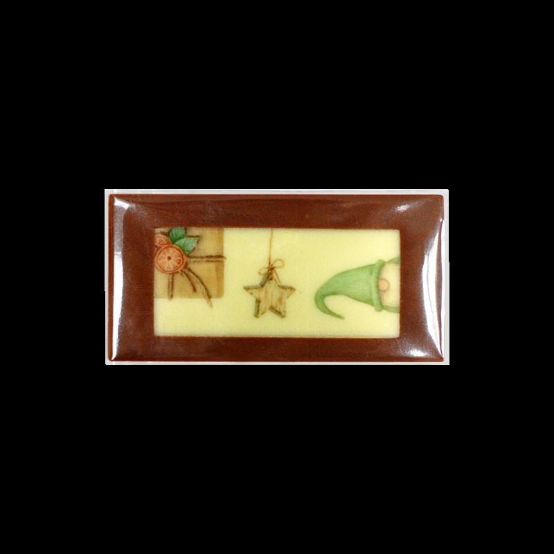 Kleine Tafel 8x4 cm mit Weihnachtsmotiv (individualisierbar)