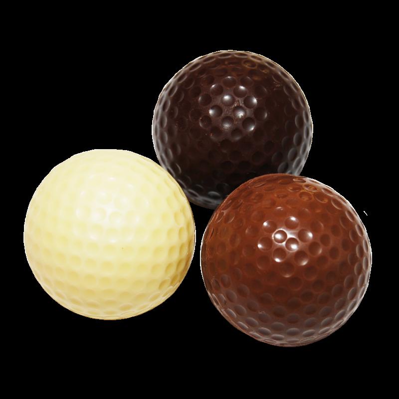 Golfbälle aus Schokolade lose