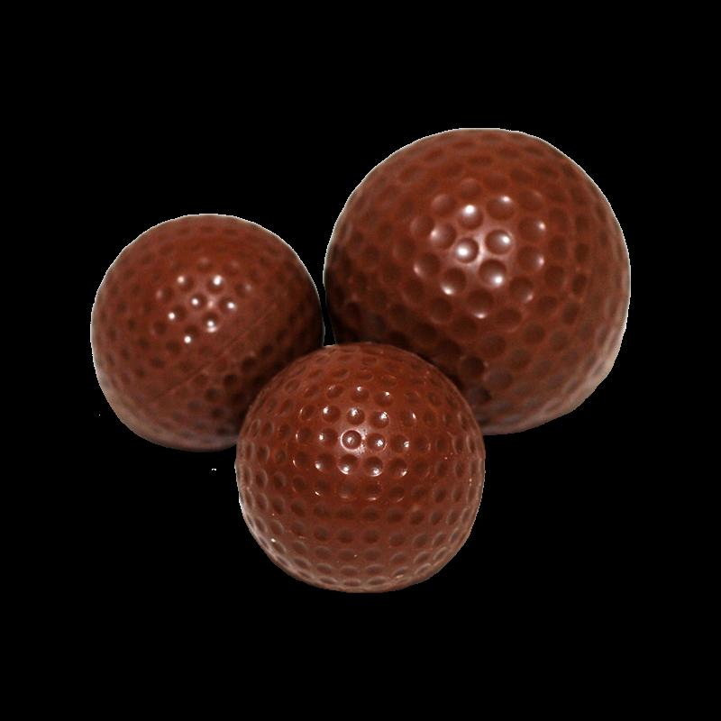 Golfbälle klein aus Schokolade