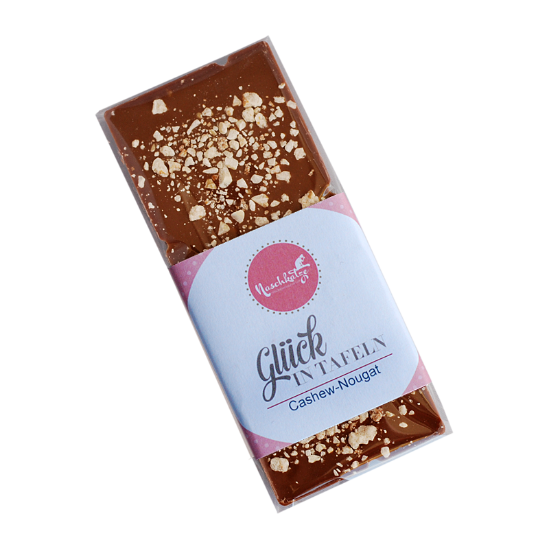 Cashew-Schokolade-Tafel 42% mit Cashew Krokant (Original Beans)