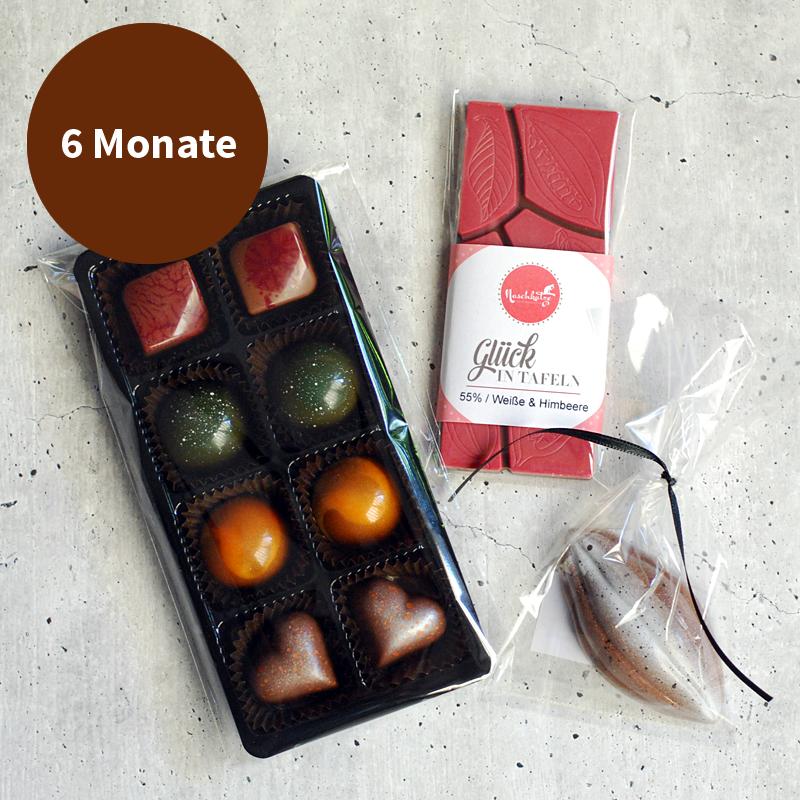 Pralinenabo / Schokoladenabo klein für 6 Monate Gratisversand