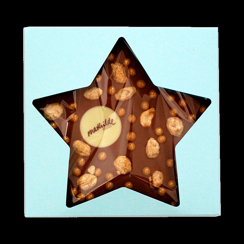 Sterntafel mit Logo/Wunschtext in Geschenkverpackung