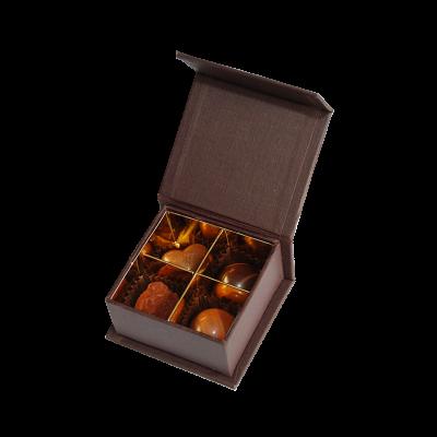 Luxusschachtel mit 4 Trüffeln & Pralinen (ca. 40g)