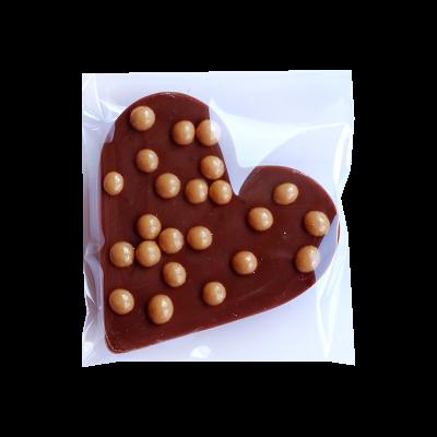 Schokoladenherz mit Topping