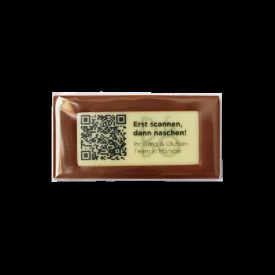 Minitafel 8x4cm mit rechteckigem Aufleger Logo und Text