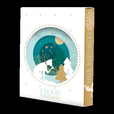 Exklusiver Adventskalender mit 24 schokoladigen Überraschungen